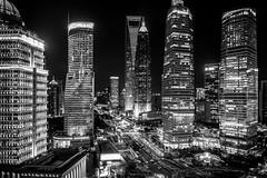 (Rob-Shanghai) Tags: shanghai china night city cityscape mono lujiazui rx10m2 lights megacity modernchina