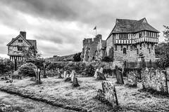 Stokesay Castle (michaeljoakes) Tags: stokesaycastle englishheritage shropshire stokesay england mansion history blackandwhite noiretblanc blancoynegro eh canonpowershotg7x churchyard