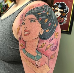 Disney tattoo by Wes Fortier @ Burning Hearts Tattoo Co. Waterbury, CT. Instagram: @wesdtc | Facebook: facebook.com/burningheartstattoo