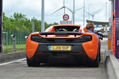 McLaren 650S Spider (dees_carspotting) Tags: mclaren 650s spider france coquelles calais orange 20140616 lj14suf le mans 2014 lm14 lm2014