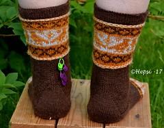 2017-08-04 Kanteletar (1) (hepsi2) Tags: tds2017 tds2017kanteletar kanteletar socks sukat colorwork strandedknitting