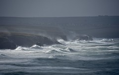 Storm (Nige H (Thanks for 10m views)) Tags: nature landscape seascape sea ocean waves atlanticocean storm cornwall england trevosehead nationaltrust