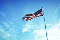 9/11/2017 (Carrie McGann) Tags: flag americanflag redwhiteblue 911 september11 neverforget patriotday sky clouds 091117 nikon interesting