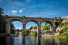 Knaresborough Viaduct (tbnate) Tags: knaresborough viaduct knaresboroughviaduct water river nidd niddriver sunny architecture cityscape landscape boat boats yorkshire northyorkshire clouds outdoor outside nikon nikond750 d750 tamron tamron1530 ultrawideangle ultrawide bluesky sky nature city trees tbnate