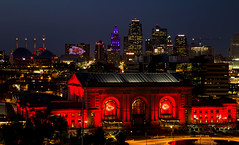 RED FRIDAY (KC Mike D.) Tags: friday red chiefs kansascitychiefs architecture design downtown station union arrowhead