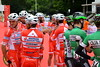 Emerald And Scarlet (dhcomet) Tags: london prudential ride cycle cycling bike race competition team horseguards start professional androni sidermec bottecchia caja rural–seguros rga