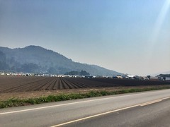 Fire fighter camp - 185000 acres on fire nearby (followmychallenge) Tags: