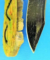 """Evolution""  Stone to Metal (seanwalsh4) Tags: macromondays evolution stoneageknife seanwalsh under3inches macro modernsteelknife differenttimes mendiphills 6thousandyearsapart"