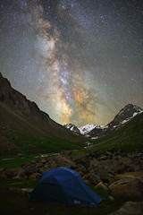 Camping under stars, Kyrgyzstan (Mike Reva) Tags: astronomy astrophoto astrophotography astro stars sky stargazing stillness samyang24 night nightsky nature nghtsky nightscape nights canon6d hiking cam camping tourism kyrgystan mountains
