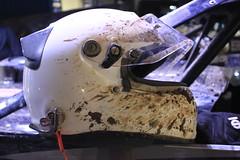 Clay (chearn73) Tags: usanationals cedarlakespeedway racing newrichmond wisconsin dirttrack helmet clay night dark