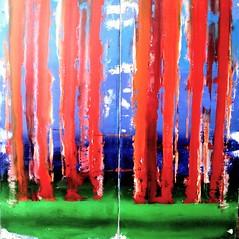 The great fire miracle in Barcelona. A hoax  ? (Peter Wachtmeister) Tags: artbrut artinformel modernart abstrakt abstract acrylicpaint popart surrealism surrealismus hanspeterwachtmeister