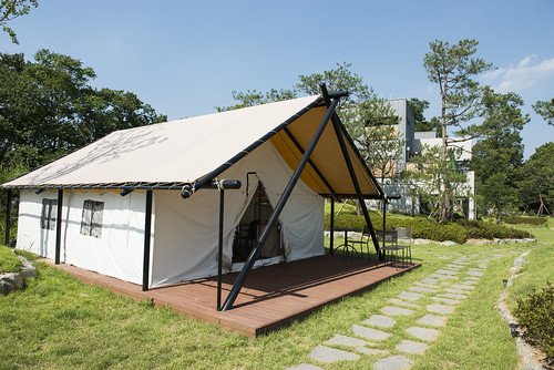canvas glamping tent Korea1