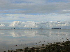 clouds and sky at Dollart Bay (achatphoenix) Tags: sky ciel clouds wolken nuages september cielo dollart dollard dollartbay dollartbusen ems water wasser waddensea wattenmeer emden