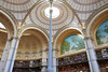 Light, arches, paintings and books - Salle Labrouste, BnF Richelieu (Monceau) Tags: sallelabrouste bibliothèquenationaledefrance bnf richelieu ceiling circles skylights metal arches supports