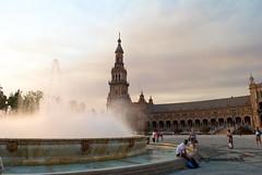 (AleColamonici) Tags: plazadeespana fountain water espana spain spagna siviglia sevilla andalucia nikon nikond3000 afternoon