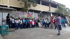 Uno de los grupos en el encuentro de jovenes de confirmacion en la parroquia de la Stma. Trinidad de Guayacan