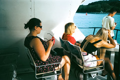 boat passenger (31lucass shots) Tags: minoltafilm minoltaaafs kodakfilm kodakcolorplus200 filmphoto filmphotography 35mmfilm analoguefilm snapshot 135film shootfilm filmisnotdead tourist ferryboat passenger