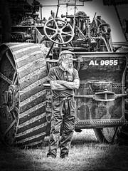 You can call me Al ... (Feathering the Nest) Tags: hay steam engine vintage rally hss sliderssunday vignette callmeal beard hat featureamplification processed contrast mono wales borders marches candid paulsimon youcancallmeal