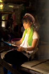 Hill Top Tribe Karen Village (Thaiexpat) Tags: a7rii chiangmai hill top tribe longneck thailand mountainvillage seamstress working beauty