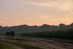 Tractor and farm in the morning (janglesfordays) Tags: ct conecticut corn dirty landscape newengland america cornflakes farm heartland morning sky sunrise tractor farmington connecticut unitedstates us
