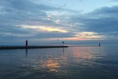 Muskegon Lake Michigan Channel (designsbykari) Tags: muskegon michigan lakemichigan greatlakes sunset boat water lighthouse clouds peremarquette muskegonlake usa unitedstatesofamerica summer pier