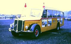 Slide 101-50 (Steve Guess) Tags: british coach rally thorpe park start chertsey surrey england gb uk fbw swiss post bus