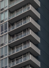 Balcony View (Jovan Jimenez) Tags: balcony view sony ilce 6500 a6500 alpha chicago apartment condos high rise lines shapes vertical nikon seriese eseries 100mm series e architecture building hdr lens manual focus f28 vintage mirrorless