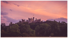 "Belvoir Castle Sunset. (Ian Emerson ""I'm Back"") Tags: castle belvoir sunset heritage england turrets flags windows architecture house countryside trees uk leicestershire landscape outdoor omot"