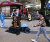 Street entertainer (Snapshooter46) Tags: streetentertainer man busker barrelorgan organmusic cornmarketstreet oxford people