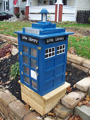 OH Columbus - Little Free Library 7 (scottamus) Tags: columbus ohio franklincounty mini miniature house library books littlefreelibrary tardis drwho