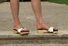 pic0057 (KnulliBulli) Tags: high heels mules nylons clogs pantoletten slides sexy holz scholl woodenshoes plateaupantoletten plateaushoes highheels holzclogs füsse fus sexymules sexyslides zoccoli nails peeptoes schuh toes fuss legs sexypantoletten sexystilettos sexyfeet holzklepper schollis berkemann greatfeet greatheels