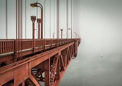 Dissapearance (Camera_Shy.) Tags: golden gate bridge fog san francisco california eerie landscape photography architecture structure usa america united states road trip