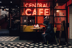 Table for One (lsullivanart) Tags: thecity thecityoflondon londontown capital london england britain unitedkingdom uk europe urbanstreet urbanpeople urbanview urbanscene urbancandid candid humanity human people rawstreets streetlife life view streetview streetscene streetphoto streetshoooter streetshot streetart streets street streetshooter streetphotographer streetphotographycolour streetphotography outdoor atmospheric dramatic clouds sky autumn night noflash nightlight nocturnal x70 fujix70 fujinon fujix fujifilm fuji snapshot snap shoot shooter shot photography piccadillycircus piccadilly leicestersquare