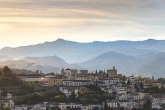 Granada (Thijs de Bruin) Tags: granada view uitzicht bergen alhambra sunrise zonsopkomst andalusië andalusia