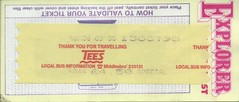 1995 Explorer North East issued by Tees & District (Faversham 2009) Tags: scan scanned document 1995 travel ticket bus buses explorer northeast teesdistrict tees