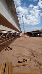 Salt River Bridge Construction - Girder Placement (September 2017) (Arizona Department of Transportation) Tags: bridgeconstruction freewayconstruction bridges construction southmountainfreeway