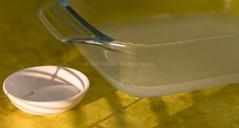 Lime juice gelation with agar. (annick vanderschelden) Tags: agar lime lemon juice board wood kitchen culinary agaragar jellylike algae ploysaccharide agarose redalgae agaropectin dessert vegetarian gelling gelation polymer sugargalactose japan hysteresis gelatin 1650 tarozaemon kanten polysaccharide structure cellwalls boil seaweed agarobiose rigid brittle syneresis hydrate absorb water ingredient thickening whippingsiphon fluidgel clarifyingagent disperse yellow whisk hand belgium