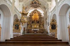 Wallfahrtsklooster St Georgenberg (jeannette.dejong) Tags: stgeorgenberg wit goud blauw groen beige roze rood zwart ngc naturelovers kerk oostenrijk