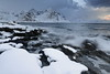 SW-wards view from Vareid beach-mounts along Flakstadpollen-bay: Flakstadtinden-Stortinden-Bonnaken-Stabben-Kollfjellet-et al. Flakstadoya-Lofoten-Norway.0430 (rweisswald) Tags: view panorama landscape seascape snowscape mountainscape fjord bay inlet sea pollen breakingwave tide watersurface surf flakstadpollen snow snowy snowcovered snowblanket snowcappedmountain peak rugged craggy mulstotinden ytresandheia vassdalstinden flakstadtinden stortinden bonnaken stabben pilten nonstinden kollfjellet rock boulder rockycoast beach seaside seashore shoreline cloud cloudy overcast stormysky vareid flakstadoya lofoten nordlandfylke norway