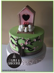mila's house (The Whole Cake and Caboodle ( lisa )) Tags: caboodle cake cakes thewholecakeandcaboodle whangarei girl girls birthdaycakeswhangarei birthdaycakes bird birdhouse housewarming