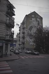 Lilly Of The Valley (Alexander Oleynik) Tags: house autumn street kyiv art wall road crossroad ukraine стритарт crosswalk портрет portrait writer