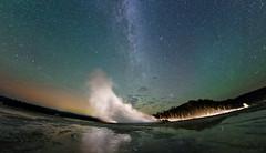 Airglow, Aurora, Milky Way and Geyser