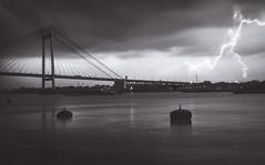 Lightning strikes on Calcutta! (@the.photoguy (insta)) Tags: calcutta kolkata thunder storm monsoonclouds lightning secondhoogleybridge silhouette blackwhite landscape monochrome buoy