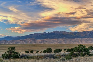 *Great Sand Dunes @ evening sky*