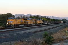UP OWWCJ-16 (caltrain927) Tags: union pacific railroad loaded dirty dirt unit train hopper ge et44ac es44ac ac45ccte c45accte c45ah emd sd70m stege richmond california ca