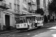 San Francisco Cable Car (Motion) (bryanasmar) Tags: sf san francisco cable car motion leica monochrome summilux 50 14 titanium bw street photo ngc m246
