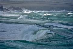 Waves (Nige H (Thanks for 25m views)) Tags: nature landscape sea seascape waves whitecaps storm ocean cornwall roughsea
