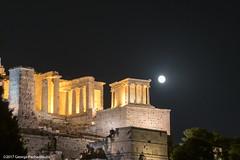 Propylaea of Acropolis of Athens (George Pachantouris) Tags: athens greece acropolis propylaea ancient night full moon ακρόπολη αθήνα ελλαδα παρθενώνασ parthenon