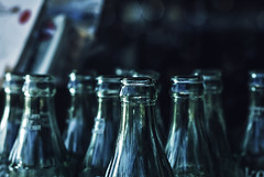 Tops (Carrie McGann) Tags: cocacola coke glass bottles 080817 nikon interesting