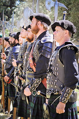 Scottish Halberdiers (GazerStudios) Tags: black hats scottish kilts warriors battle livinghistory halberds 55300mm nikond90 celtic weapons beards yummy armor men renaissance 15thcentury sporrans leather historicalreenactment crochet berets bracers groups